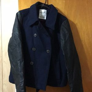 Navy blue pea coat